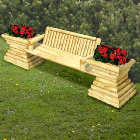 garden bench with planters landscape timber project landscape timber other