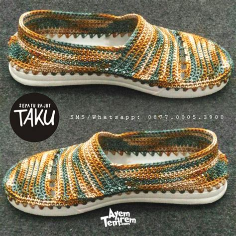 tutorial membuat sepatu rajut dewasa produk sepatu rajut terbaru dari ayemtentrem com ayem