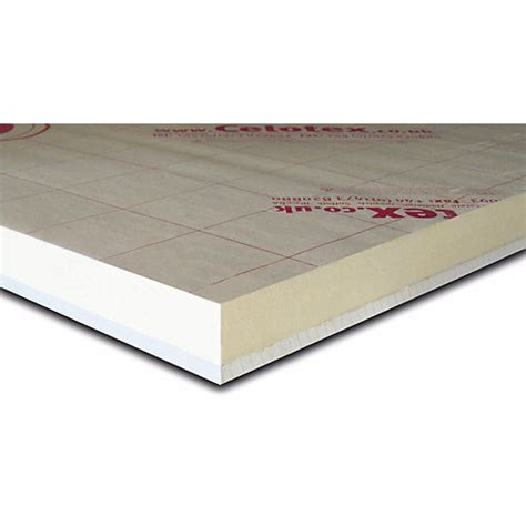 Insulated Ceiling Boards by Celotex Pir Thermal Laminated Insulation Board 2400mm X 1200mm X 37 5mm 2 88m2 Sheet Travis