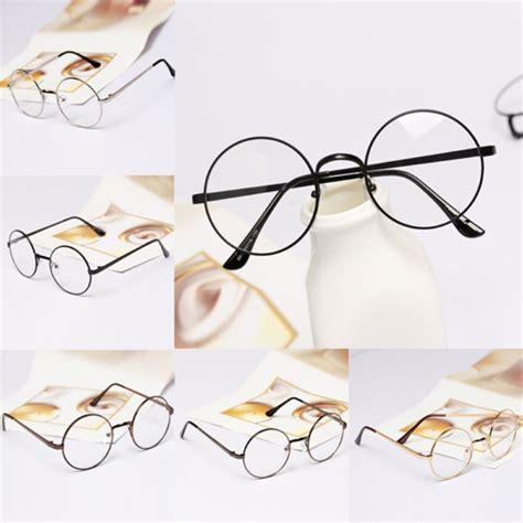 Miniso Kacamata kacamata unisex lensa bening frame bentuk bulat bahan