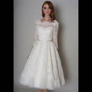 loulou delilah tea length vintage 1950s wedding dress with