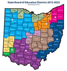 Ohio District Map by Quick Voting Guide For Ohio S State Board Of Education