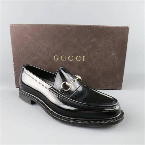 gucci rubber loafers s gucci size 10 black rubber silver horsebit loafers