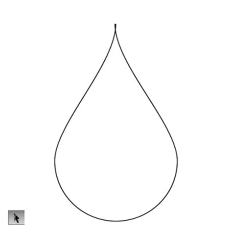 raindrop template with lines drop shape adobe illustrator cs5 creative cure