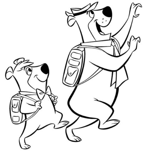 coloring pages yogi bear yogi bear and boo boo coloring pages free for kids