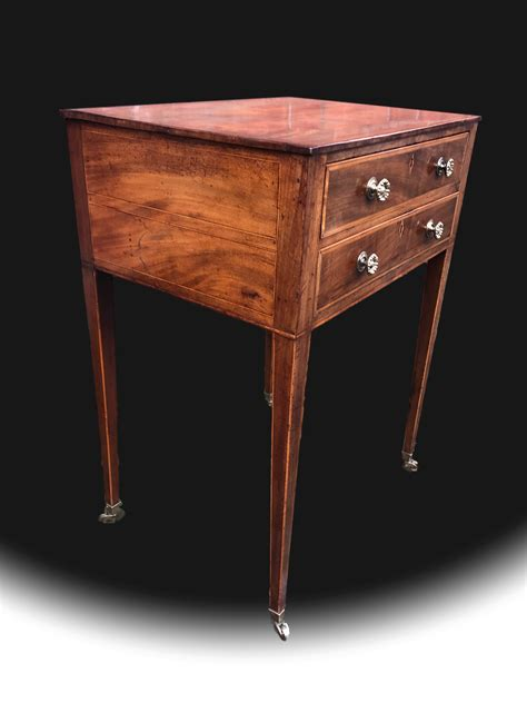 Standing Work Table by George Iii Mahogany Free Standing Work Table