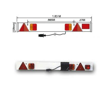trailer lighting board 6ft wide with fog lamp mp256p6f10m