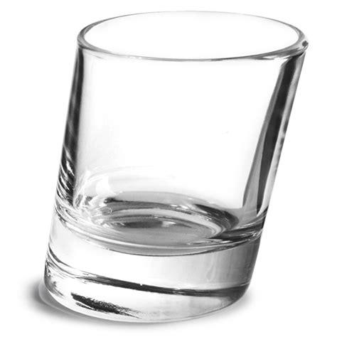 Tilted Bar Glasses Pisa Glasses 1 8oz 50ml Leaning Glass Tilted