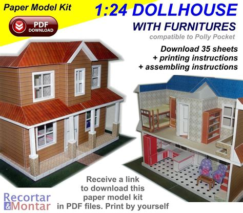 paper model kit 3d in pdf to 1 24 scale