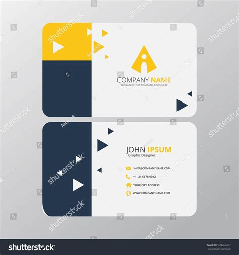 Business Card Appointment Clean Template Design Illustrator by Modern Creative Clean Business Card Design Stock Vector