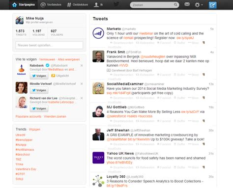 nieuwe layout twitter nieuwe lay out twitter wat zijn de voordelen
