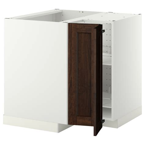 Corner Base Cabinet by Metod Corner Base Cabinet With Carousel White Edserum
