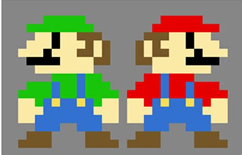 famous characters in pixel art mario and luigi mario and luigi by will senpai on deviantart