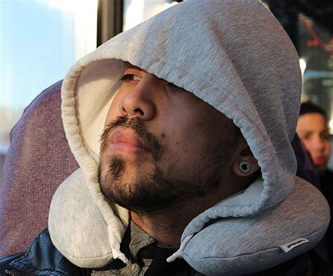 Airplane Pillow With Hoodie by These Pillows Will Make Sleeping Even More