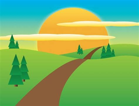 sunny meadow landscape clip arts clipart me