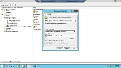 windows server   folder redirection  gpo