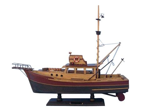 Wooden Model Fishing Ship Handmade - buy wooden jaws orca model boat 20 inch wholesale