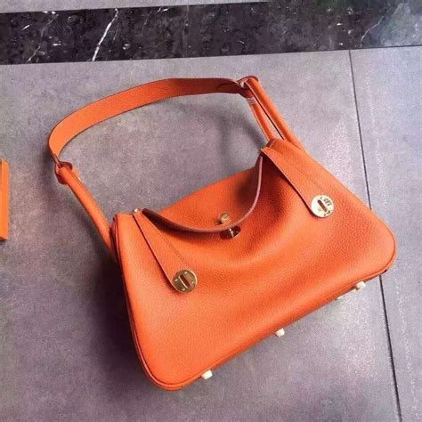 Lindy Togo 25cm hermes lindy 30cm handbag orange gold 259 00 replica