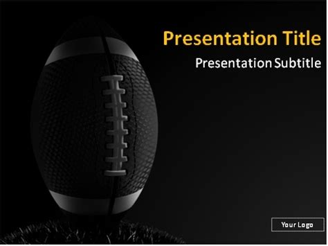 Download American Football On Dark Background Powerpoint Free Football Powerpoint Templates