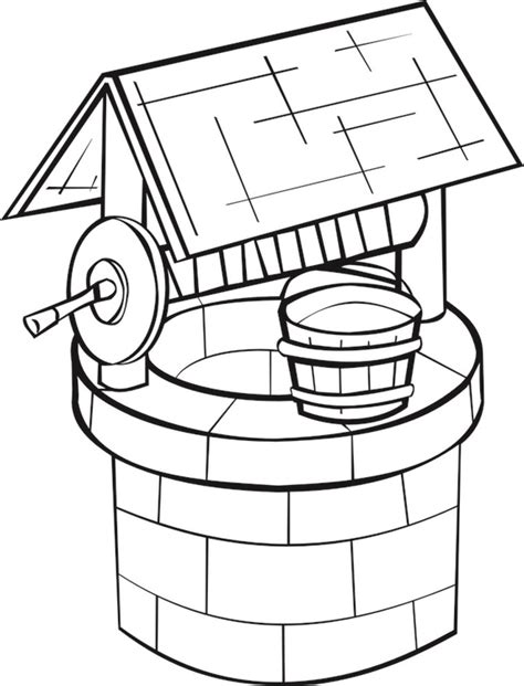 coloring page well img 16189