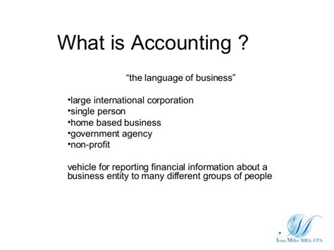 Mba Accounting Definition by Definition Of Accounting