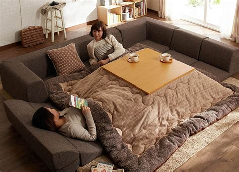 kotatsu bed japanese heating invention kotatsu unites table and bed