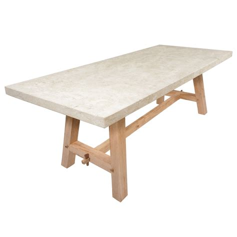 Oak Top Dining Table The Oak Garden Dining Table With Limestone Top Architectural Heritage