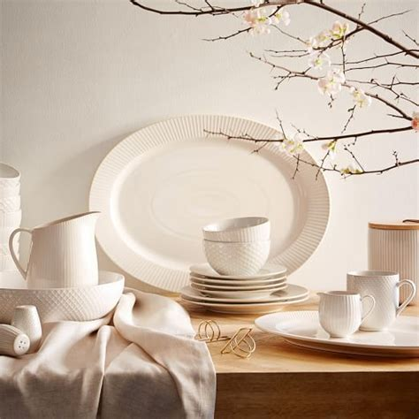 Panci Stainless Set By Eddy Ols textured dinnerware set white west elm