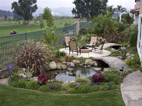 I Love This Water Feature And The Little Bridge Would Small Backyard Pit