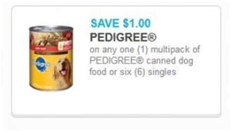 dog food coupons for walmart pedigree canned dog food only 3 48 at walmart with