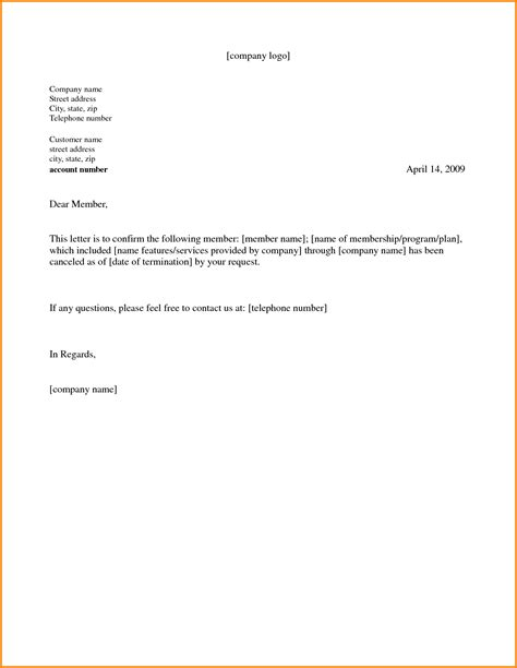 cancellation letter for fitness 28 contract cancellation letter exles