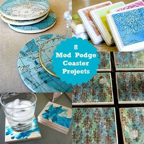 8 mod podge coasters ideas a quick weekend craft