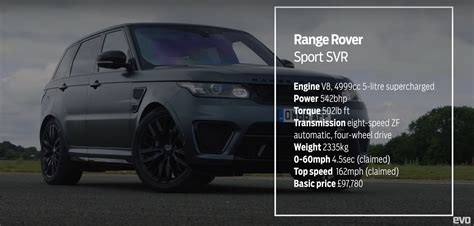 range rover svr engine range rover sport svr vs caterham 360r drag race proves