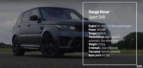 range rover svr engine range rover sport svr vs caterham 360r drag race proves