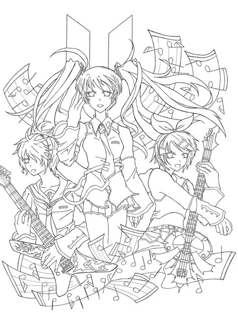 vocaloid coloring pages the gallery for gt vocaloid rin coloring pages