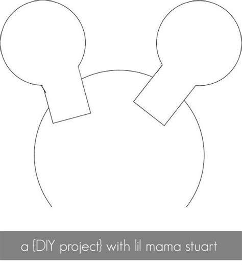 template minnie mouse ears brae s 2nd birthday pinterest