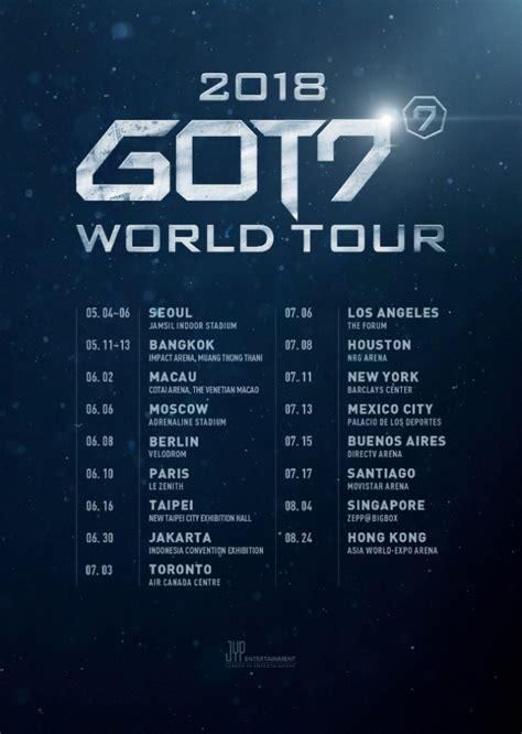 got7 world tour 2019 got7 announces 2018 world tour concert dates kpopmap