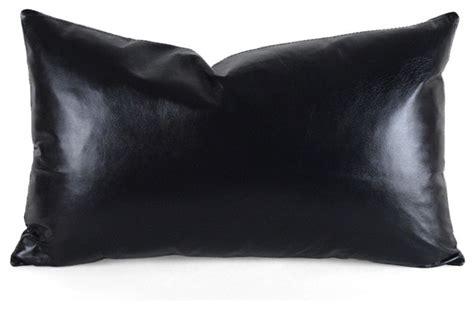 Black Leather Pillows black leather pillow decorative pillows