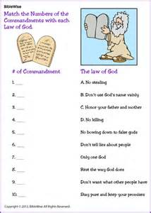 Match commandment with the right number kids korner biblewise