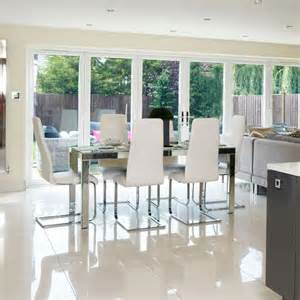 Dining Room Doors Chic Dining Room With Bi Fold Doors Housetohome Co Uk