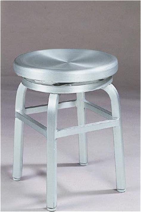 Overstock Vanity Stool by Melanie Swivel Vanity Stool Swivel Brushed Aluminm