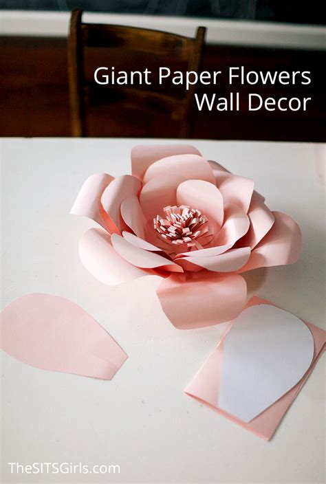 How To Make Paper Flowers For Wall - paper flowers wall decor decor