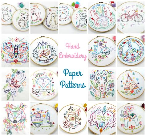 Handmade Embroidery Patterns - paper embroidery patterns embroidery patterns