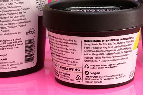 Lush Mask Of Magnaminty In Jar 30g new lush self preserving salt and mask