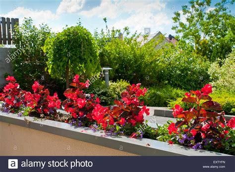 Garden City Flowers Balcony Building House Flower Flowers Garden City Green Home Europe Stock Photo Royalty Free