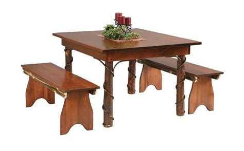 hickory dining room table rustic dining room table