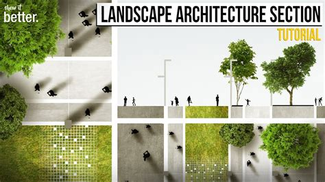 Rendering Floor Plans by Landscape Architecture Section And Plan In Photoshop