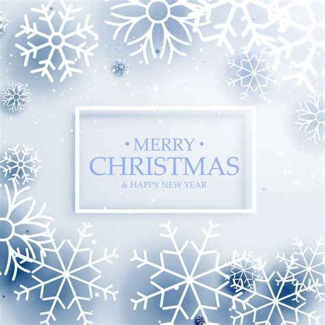 minimal style merry christmas greeting  snowflakes   vector art stock