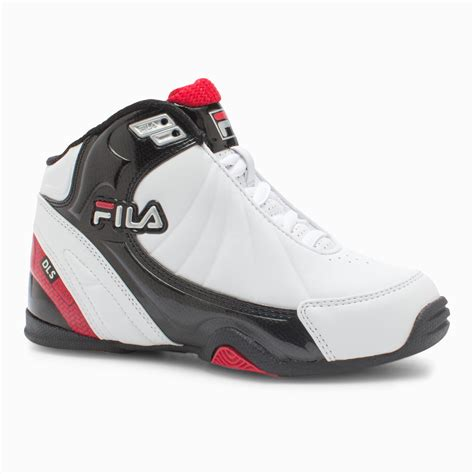 high top basketball shoes ankle support fila boys white dls slam high top basketball shoe