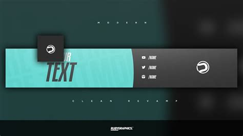 Free Gfx Free Photoshop Rev Banner Template Clean 2d Modern Style Design Youtube Clean Banner Template
